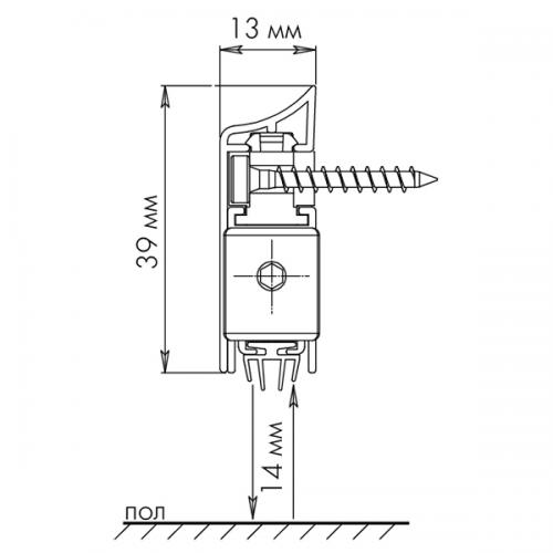 Накладной автоматический Armadillo (Армадилло) порог APLIQUE ONE SIZE A