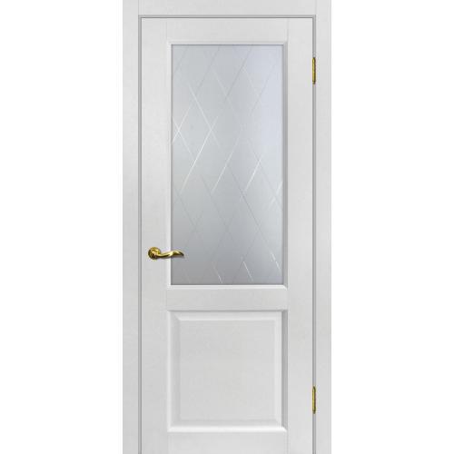 Дверь межкомнатная Тоскано 1 цвет Пломбир стекло ромб