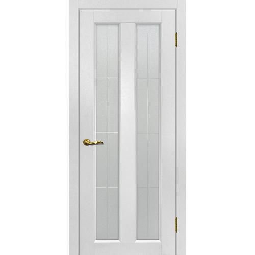 Дверь межкомнатная Тоскано 5 цвет Пломбир стекло сатинат