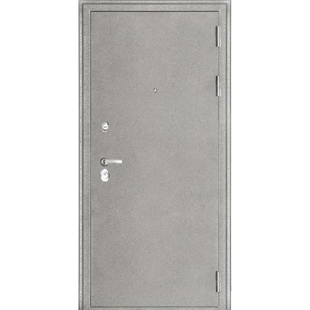 Входная дверь под панель МД 8 Белое серебро