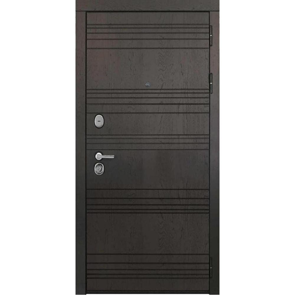 Входная дверь под панель МД 7 Ясень шоколад