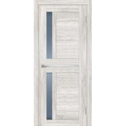 Дверь межкомнатная Profilo Porte  PSL 19 цвет Сан ремо Крем стекло сатинат графит