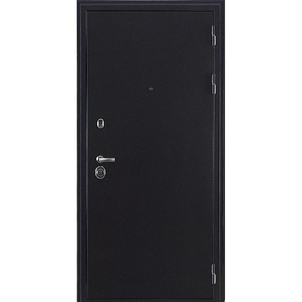 Входная дверь под панель МД 8 Темное серебро